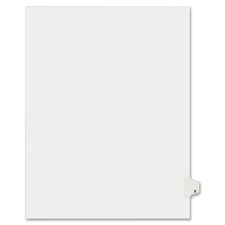 AVE 01424 Avery Individually Lettered Tabs Legal Dividers AVE01424