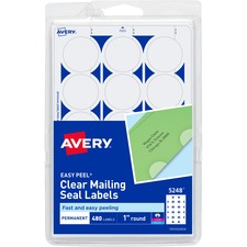 AVE 05248 Avery East Peel Round Mailing Seals AVE05248