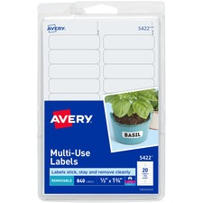 AVE 05422 Avery Removable Print/Write Rectangular Labels AVE05422