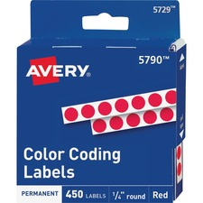 AVE 05790 Avery Permanent Round Color Coding Labels AVE05790