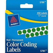AVE 05791 Avery Permanent Round Color Coding Labels AVE05791