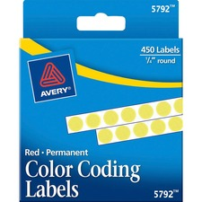 AVE 05792 Avery Permanent Round Color Coding Labels AVE05792