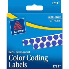 AVE 05793 Avery Permanent Round Color Coding Labels AVE05793