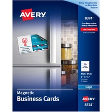AVE 8374 Avery Magnetic Inkjet Business Cards AVE8374