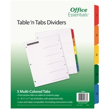 AVE 11667 Avery Table 'N Tabs Numeric Dividers AVE11667