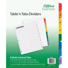 AVE 11669 Avery Table 'N Tabs Numeric Dividers AVE11669