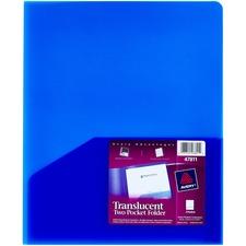 AVE 47811 Avery 2-Pocket Translucent Poly Folders AVE47811