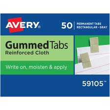 AVE 59105 Avery Reinforced Cloth Gummed Index Tabs AVE59105