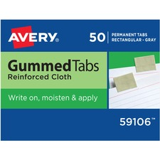 AVE 59106 Avery Reinforced Cloth Gummed Index Tabs AVE59106