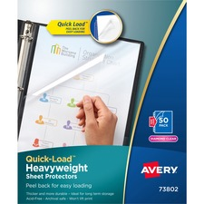 AVE 73802 Avery Quick-Loading Heavyweight Clear Sheet Protector AVE73802