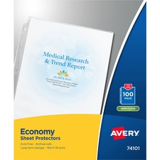 AVE 74101 Avery Standard and Economy Weight Clear and Semi-Clear Sheet Protector AVE74101