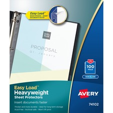 AVE 74102 Avery Heavyweight and Super Heavyweight Easy Load Non-Glare Sheet Protector AVE74102