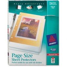AVE 74203 Avery Heavyweight Three-Hole Punched Clear Sheet Protector AVE74203