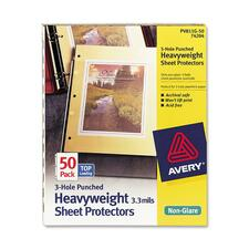 Avery 74204 Sheet Protectors, 3 HP, Heavyweight, 11