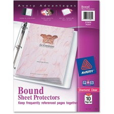 AVE 74301 Avery Bound Ten-Sheet Heavyweight Clear Sheet Protector AVE74301