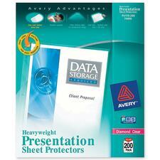 AVE 74400 Avery Diamond Clear Heavyweight Sheet Protectors AVE74400