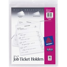 AVE 75009 Avery Heavyweight Clear Vinyl Job Ticket Holder AVE75009