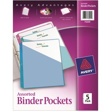 AVE 75254 Avery Durable 3-Ring Poly Binder Pockets AVE75254