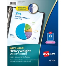 AVE 75304 Avery Diamond Clear Heavyweight Sheet Protectors AVE75304