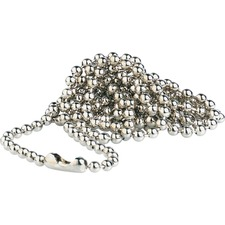 BAU 69137 Baumgartens Nickel Plated Beaded ID Chains BAU69137