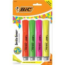 BIC BLMGP41ASST Bic Brite Liner Fluorescent Highlighters BICBLMGP41ASST