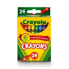"Crayola Lift Lid Crayola Crayon Sets - Crayon Size: 3.62\"" - Wax Color: Assorted - 24 / Box"