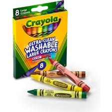 CYO 523280 Crayola Kid's 8 Count Large Washable Crayons CYO523280