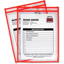CLI 43912 C-Line Neon Colored Stitched Shop Ticket Holders CLI43912