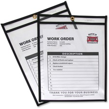 CLI 46912 C-Line Stitched Vinyl Shop Ticket Holders CLI46912