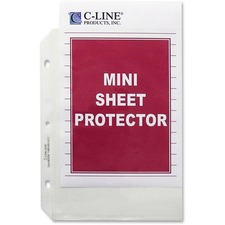CLI 62058 C-Line Top Load Heavyweight Mini Sheet Protectors CLI62058