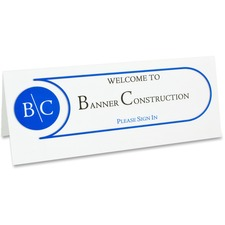 CLI 87517 C-Line Scored Name Tents Cardstock CLI87517