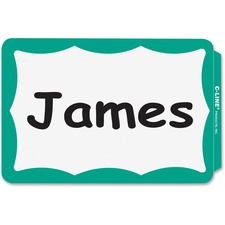 CLI 92263 C-Line Self-adhesive Color Border Name Badges CLI92263
