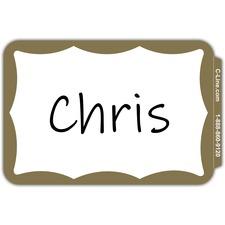 CLI 92266 C-Line Self-adhesive Color Border Name Badges CLI92266