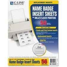 CLI 92423 C-Line Laser/Inkjet Badge Insert Refills CLI92423