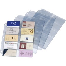 CRD 7856000 Cardinal Ring Binder Business Card Refill Sheets CRD7856000