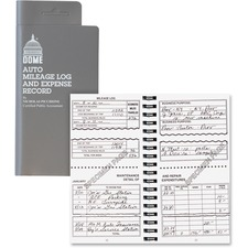 DOM 750 Dome Publishing Auto Mileage & Expense Record Book DOM750