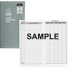 Dome Publishing Auto Mileage Log