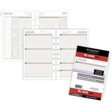 DRN 481285Y Day Runner Weekly Planner Loose-leaf Refill DRN481285Y