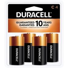 DUR MN1400R4ZX Duracell Coppertop Alkaline C Batteries DURMN1400R4ZX