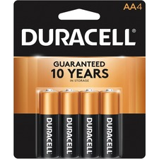 DUR MN1500B4Z Duracell CopperTop Alkaline AA Batteries DURMN1500B4Z
