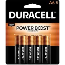 DUR MN1500B8Z Duracell CopperTop Alkaline AA Batteries DURMN1500B8Z