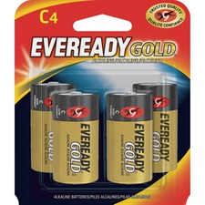 EVE A93BP4 Energizer Eveready Gold Alkaline C Batteries EVEA93BP4
