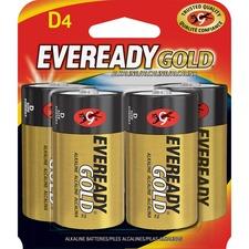 EVE A95BP4 Energizer Eveready Gold Alkaline D Batteries EVEA95BP4