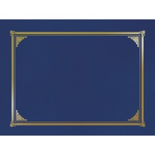 """Geographics Linen Certificate Cover - Letter - 8.5\"""" x 11\"""" - 6 / Pack - Navy Blue"""