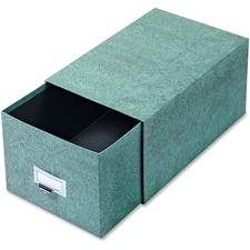 GLW 69CGRE Globe Weis Agate Index Card Storage Drawers GLW69CGRE