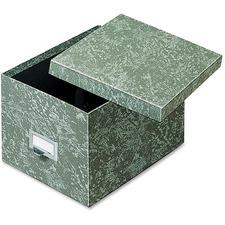GLW 96GRE Globe Weis Agate Heavy-duty Card File Lid Box GLW96GRE