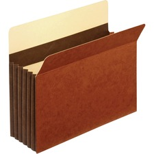 """Pendaflex Heavy-duty Accordion File Pockets - Letter - 8 1/2"""" x 11"""" Sheet Size - 5 1/4"""" Expansion - 24 pt. Folder Thickness - Tyvek - Brown - 0.16 oz - Recycled - 10 / Box"""