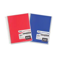 "Mead 5-Subject College Ruled Wirebound Notebook - 200 Sheet - College Ruled - Letter 8.5"" x 11\"" - 1 Each - White"