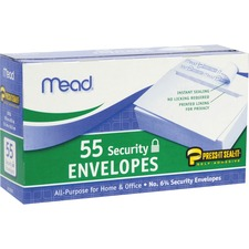 MEA 75030 Mead Press-it No. 6 Security Envelopes MEA75030
