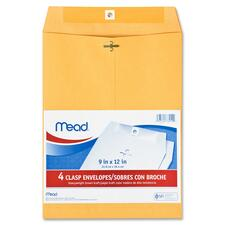 MEA 76012 Mead Heavyweight Brown Kraft Clasp Envelopes MEA76012